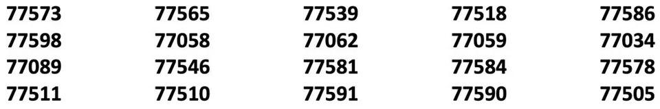 League City Fence Company Service Zip Codes 960w