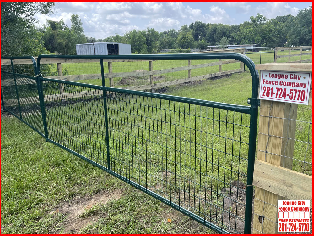 24-FT-Double-Swing-Ranch-Metal-Gate-League-City-Fence-Company